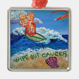 Wipe Out Cancer Angel Ornament