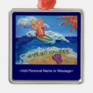 Wipe Out Cancer Angel Ornament Customized