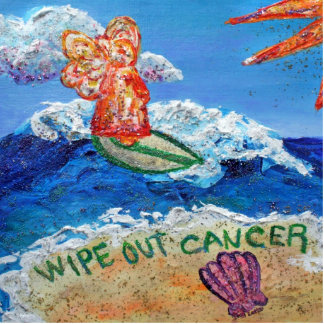 Wipe out Cancer Angel Photo Sculpture