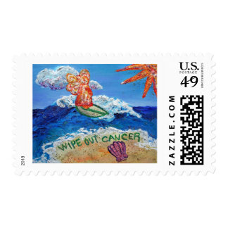 Wipe Out Cancer Angel Postage