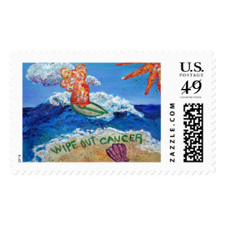 Wipe Out Cancer Angel Postage Stamp