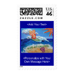 Wipe Out Cancer Angel Postage Stamp (Customized)