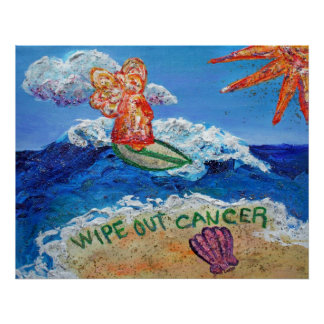 Wipe Out Cancer Angel Poster