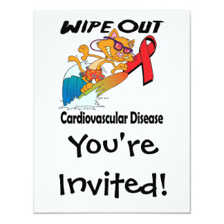Wipe Out Cardiovascular Disease Personalized Invitation