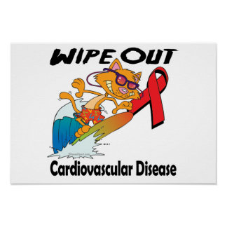 Wipe Out Cardiovascular Disease Poster