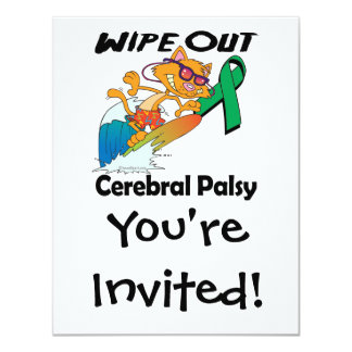 Wipe Out Cerebral Palsy Personalized Announcements