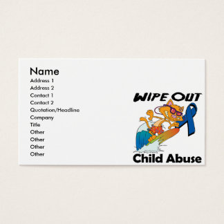 Wipe Out Child Abuse Business Card