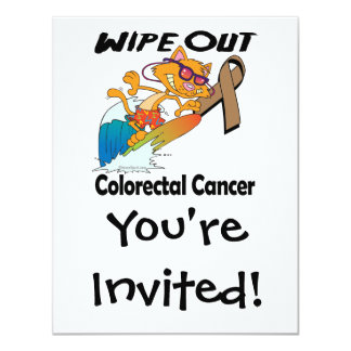 Wipe Out Colorectal Cancer 4.25x5.5 Paper Invitation Card