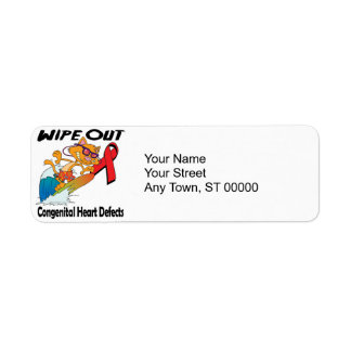 Wipe Out Congenital Heart Defects Label