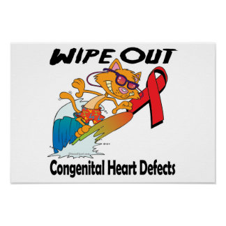 Wipe Out Congenital Heart Defects Poster