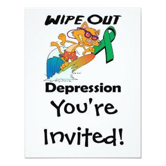 Wipe Out Depression Invitation