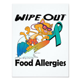 Wipe Out Food Allergies Personalized Invites