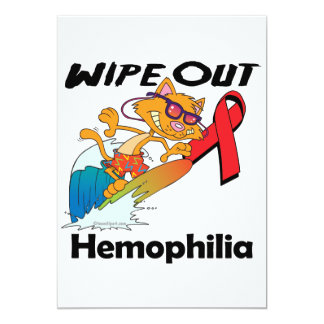 Wipe Out Hemophilia 5x7 Paper Invitation Card