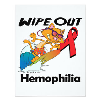 Wipe Out Hemophilia 4.25x5.5 Paper Invitation Card