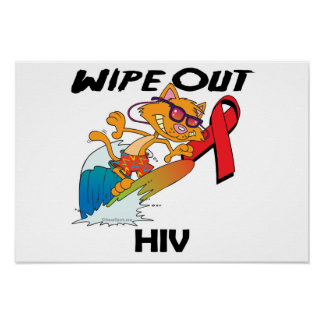 Wipe Out HIV Poster