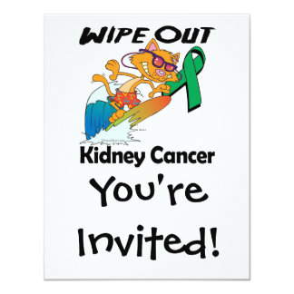 Wipe Out Kidney Cancer Custom Invitation