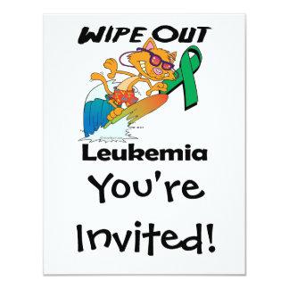 Wipe Out Leukemia (green) Invitations