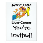 """Wipe Out Liver Cancer 4.25"""" X 5.5"""" Invitation Card"""