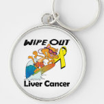 Wipe Out Liver Cancer Key Chain