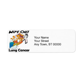 Wipe Out Lung Cancer Label