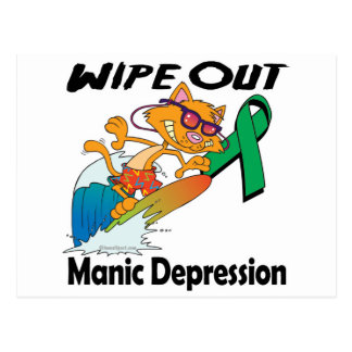 Wipe Out Manic Depression Postcard