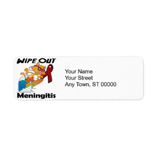 Wipe Out Meningitis Label