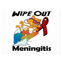 Wipe Out Meningitis Postcard