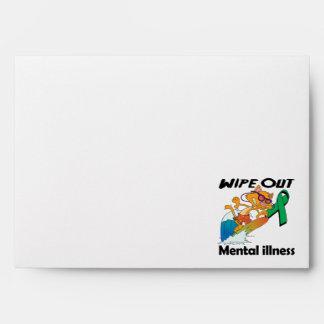 Wipe Out Mental Illness (Green) Envelopes