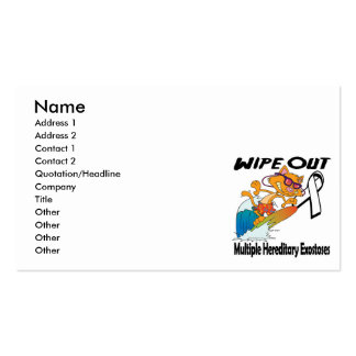 Wipe Out Multiple Hereditary Exostoses Double-Sided Standard Business Cards (Pack Of 100)