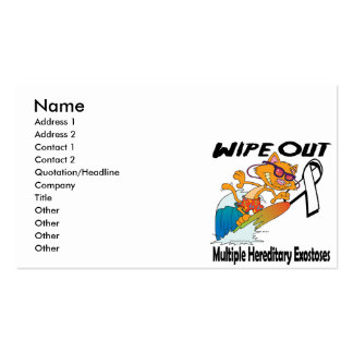 Wipe Out Multiple Hereditary Exostoses Business Card
