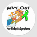 Wipe Out Non-Hodgkins Lymphoma Classic Round Sticker