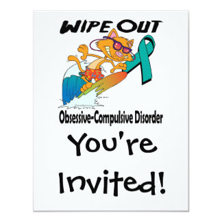 Wipe Out Obsessive-Compulsive Disorder 4.25x5.5 Paper Invitation Card