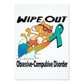 Wipe Out Obsessive-Compulsive Disorder 5x7 Paper Invitation Card