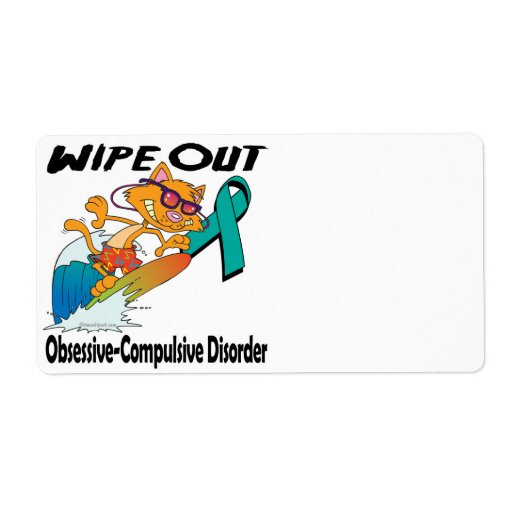 Wipe Out Obsessive-Compulsive Disorder Personalized Shipping Label