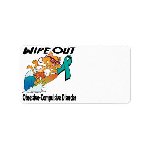 Wipe Out Obsessive-Compulsive Disorder Custom Address Label