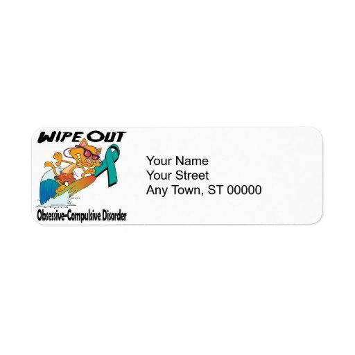 Wipe Out Obsessive-Compulsive Disorder Custom Return Address Labels