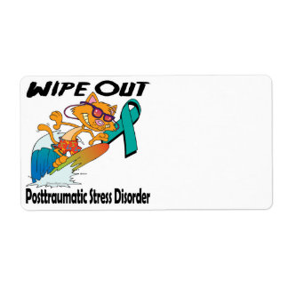 Wipe Out Posttraumatic Stress Disorder Shipping Label