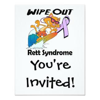 Wipe Out Rett Syndrome Invitation