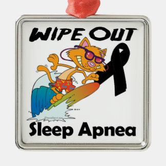 Wipe Out Sleep Apnea Christmas Ornaments