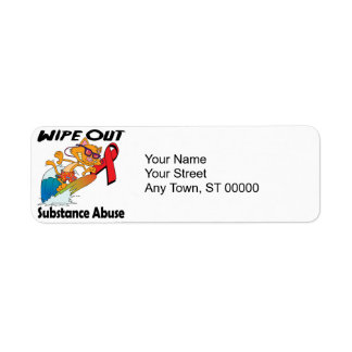 Wipe Out Substance Abuse Return Address Label