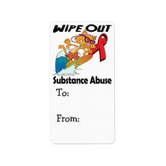 Wipe Out Substance Abuse Address Label
