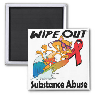 Wipe Out Substance Abuse Fridge Magnets