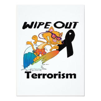 Wipe Out Terrorism Custom Invitations