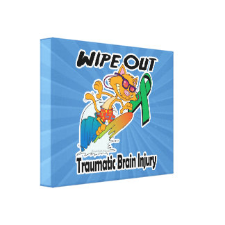 Wipe Out Traumatic Brain Injury Stretched Canvas Prints