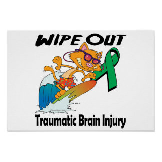 Wipe Out Traumatic Brain Injury Posters