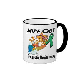 Wipe Out Traumatic Brain Injury Ringer Coffee Mug