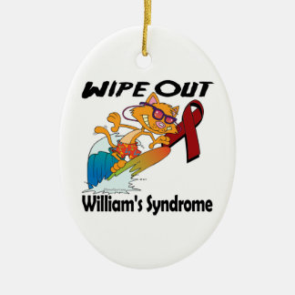 Wipe Out Williams Syndrome Ceramic Ornament
