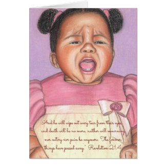 Wipe Tear From Eyes & Outcry~Scripture Card