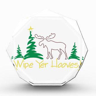 Wipe Yer Hooves! Acrylic Award