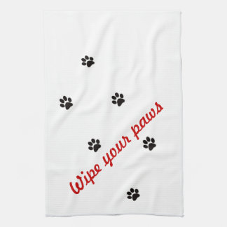 wipe your paws towel